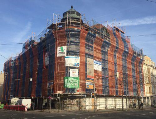 Kaufhaus West: Totalsanierung schreitet voran